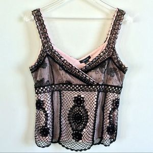 NWT Dolce Cabo Beaded Crocheted Tank Size Large